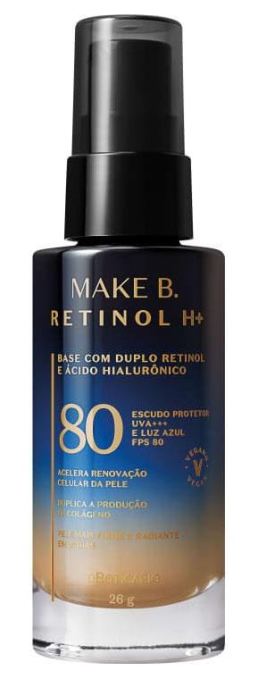 Make B. lança Retinol H+, linha com fórmula única no mundo que alia o duplo retinol ao FPS80 e ácido hialurônico vetorizado