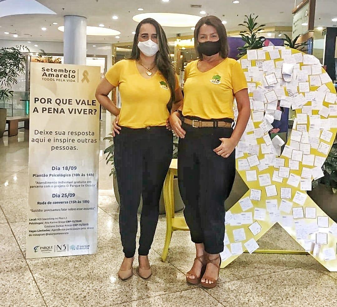 Setembro Amarelo: Parque Shopping tem roda de conversa gratuita sobre prevenção ao suicídio neste sábado